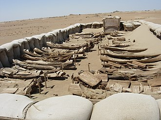 Tarim Basin - Tarim basin ancient boats; they were used for burials