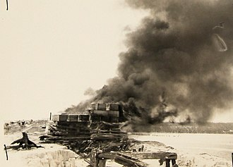 1935 Labor Day hurricane - Sept. 7, 1935, Cremation of hurricane victims, Snake Creek