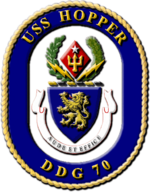Crest of USS Hopper (DDG-70), 1997
