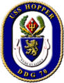Crest of USS Hopper (DDG-70), 1997.png