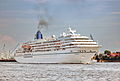 Cruise Ship Amadea down on the river Elbe coming from Hamburg heller.jpg