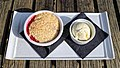 Crumble and ice cream at Black Horse Inn, Nuthurst, West Sussex, England.jpg