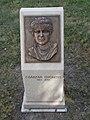 Császár Gyöngyi színművész bronz domborműves emléktáblája (Kligl Sándor), 2017 Szolnok.jpg