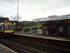 Cumbernauld railway station - Cumbernauld railway station (northbound platform)