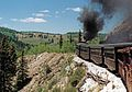 Cumbres & Toltec Rly above Rio de los Pinos CO.NM MP316 06.95.jpg