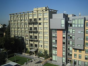 University of California, Berkeley student housing - Cunningham Hall and the newly built Towle Hall