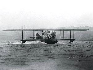 Rodman Wanamaker - The ''America'' flying boat on Lake Keuka