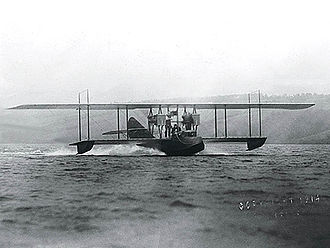 Rodman Wanamaker - The America flying boat on Lake Keuka