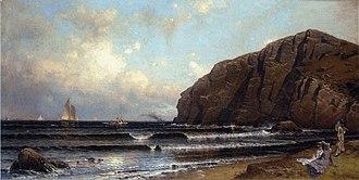 Cushing Island - Cushing Island, Portland Harbor, Alfred Thompson Bricher, ca. 1870