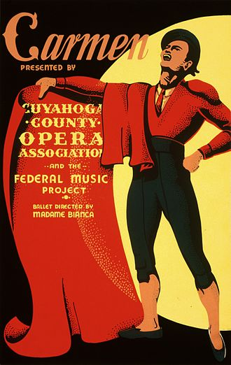 Toreador Song - A matador on a Carmen poster, 1939