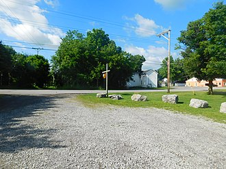 Cuylerville, New York - The hamlet of Cuylerville as seen from the site of the former Pennsylvania Railroad station.