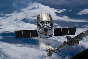 Cygnus CRS Orb-2 at ISS before grappling.jpg