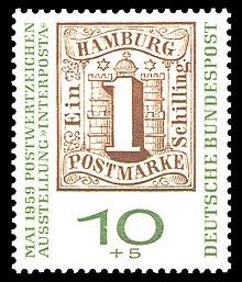 Postgeschichte Und Briefmarken Hamburgs Wikipedia