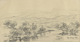 Drawing of River Wye