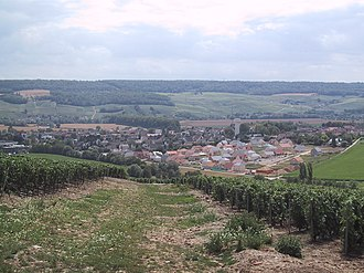 Champagne Riots - The village of Damery which saw some of the earliest rioting.