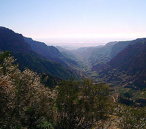Tafilah Governorate - The famous Dana Gorge in Tafilah Governorate