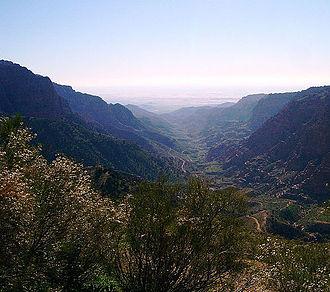 Tafilah Governorate - The famous Dana Gorge in Tafilah Governorate