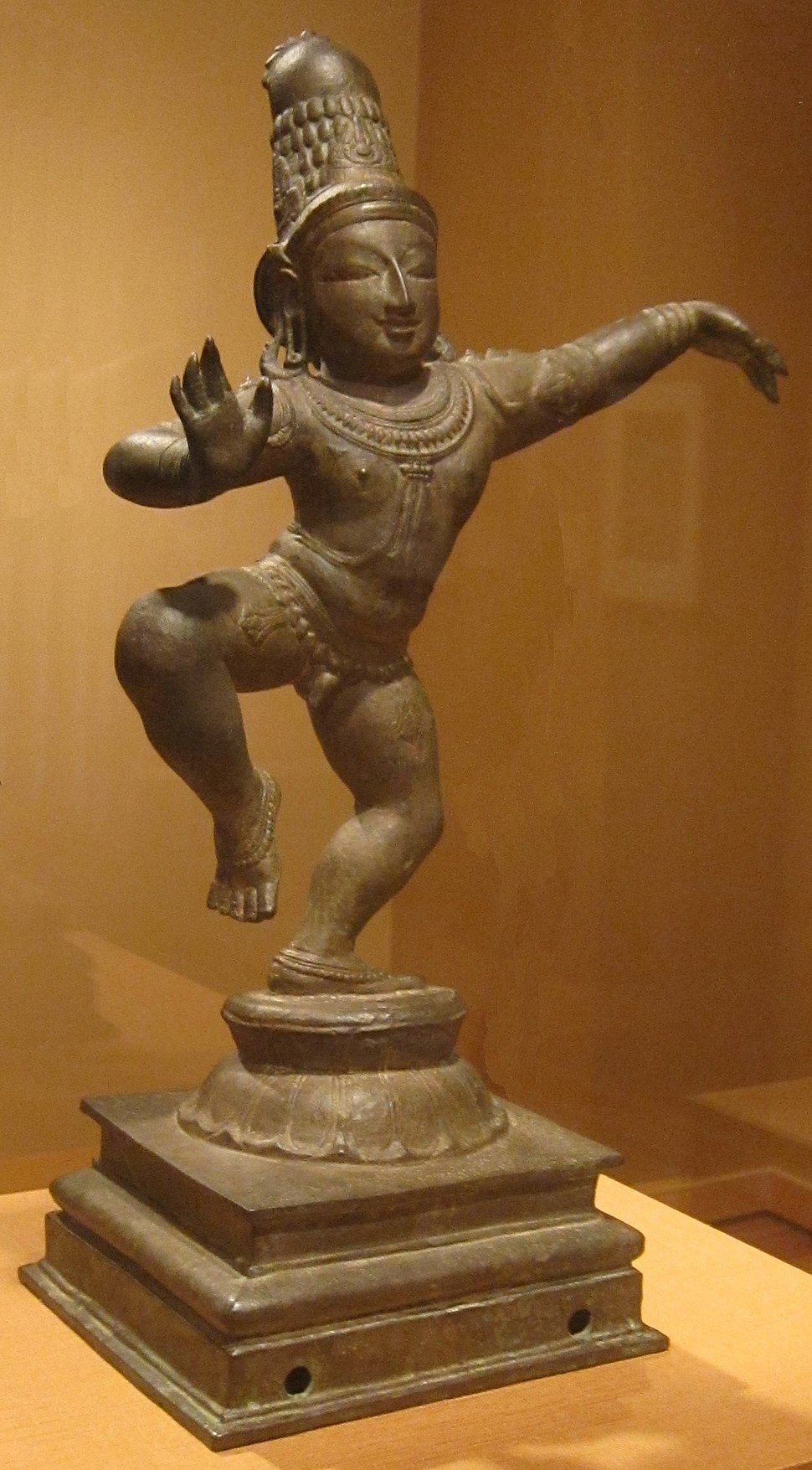 Dancing Krishna, India, Tanjore, Tamil Nadu, Chola dynasty, 14th century, bronze, HAA
