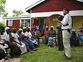 Daniel Oerther teaching facilitating a community discussion about drinking water in Otho Abwao Kenya.jpg