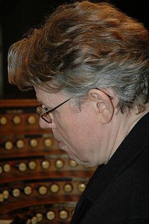 Daniel Roth (organist) - Daniel Roth at organ console in Église Saint-Sulpice, Paris