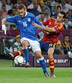 Daniele De Rossi and Álvaro Arbeloa Euro 2012 final.jpg