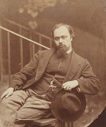 Dante Gabriel Rossetti, the subject of Waugh's first full-length book (1927) Dante Gabriel Rossetti 001.jpg