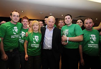 Dave Langan - Langan in Dublin with supporters of his testimonial