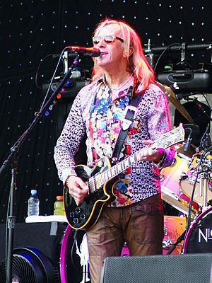 Davey Johnstone - Johnstone in concert with Elton John, 2010.