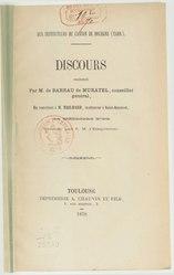 Maurice de Barrau: Aux instituteurs du Canton de Dourgne