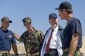 Defense.gov News Photo 100813-D-7203C-035 - Secretary of Defense Robert M. Gates meets with a father right and son left instructor team at the Naval Special Warfare Center Naval Amphibious.jpg