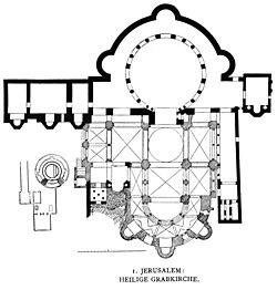 Pianta della basilica crociata