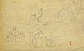 Dehodencq A. - Pencil - Feuille d'étude de sujets divers - 25x16cm.jpg