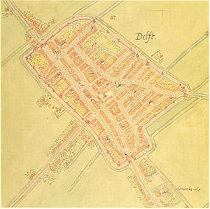 Jacob van Deventer (cartographer) - Image: Delft 1556 Net Jacob van Deventer