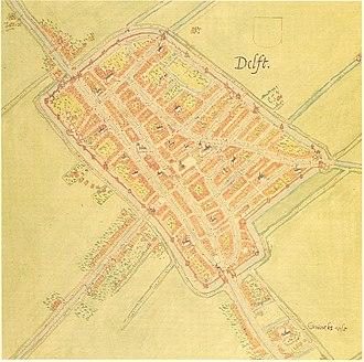Jacob van Deventer (cartographer) - Image: Delft 1556 Net Jacob van Deventer