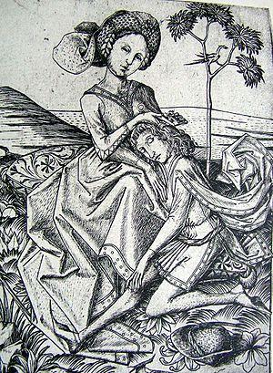 Delila schert Simson die Haare L.6