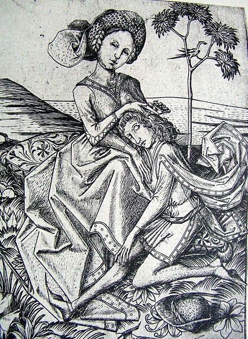 Delila schert Simson die Haare