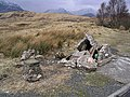 Demolished cairn by the A82 - geograph.org.uk - 698019.jpg