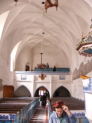 History of Unitarianism - Interior of the Gothic church in Dârjiu