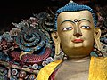 Detail of Buddha Statue in Samten Choling Monastery - Ghum (Ghoom) - Near Darjeeling - West Bengal - India (12432702104).jpg