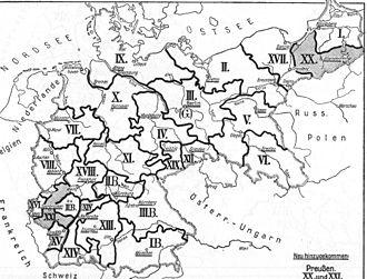 German Army order of battle (1914) - Image: Deutsche Korpsbereiche 1914