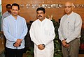 Dharmendra Pradhan and the Minister of State for Skill Development and Entrepreneurship, Shri Anant Kumar Hegde assumed the charge of their portfolios, in New Delhi (1).jpg