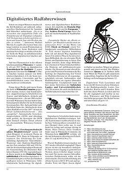 Digitalisiertes Radfahrerwissen (KS 70)