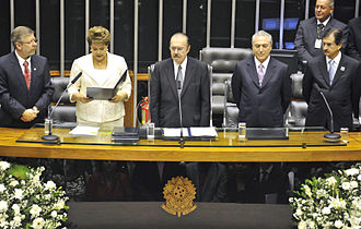 Oath of office - Dilma Rousseff takes the oath of office of the President of Brazil.