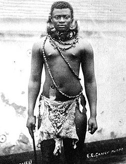 Photo de Dinuzulu en 1883.