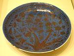 Dish, Iran, Safavid period, 2nd half of 17th century, earthenware with overglaze luster painting - Cincinnati Art Museum - DSC04127.JPG