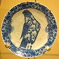 Dish with a bird, Iran, late 17th century, underglaze-painted stonepaste - Royal Ontario Museum - DSC04695.JPG