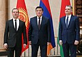 Dmitry Medvedev, Sooronbay Jeenbekov and Tigran Sargsyan at the Eurasian Intergovernmental Council meeting, 7 March 2017.jpg