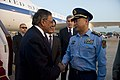 DoD photo 120917-D-BW835-901 Secretary of Defense Leon E. Panetta is greeted by General Ma Xiaotian, deputy chief of General Staff of the Chinese Army.jpg