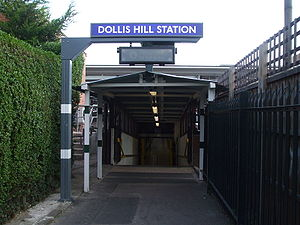 Northern entrance to Dollis Hill tube station