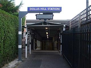Dollis Hill tube station London Underground station